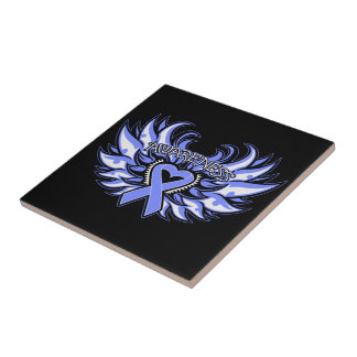 Anorexia Nervosa Awareness Heart Wings Tiles