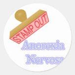 Anorexia Nervosa Pegatinas Redondas