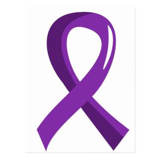 Anorexia Purple Ribbon 3 Postcard