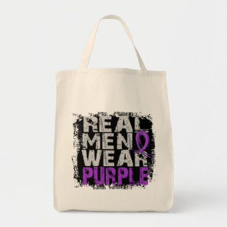 Anorexia Real Men Wear Purple Tote Bag
