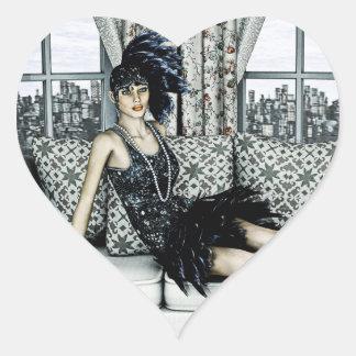Años 20 del rugido colcomanias de corazon