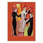 Años 20 del rugido que bailan pares tarjeta de felicitación