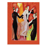 Años 20 del rugido que bailan pares tarjeta postal