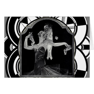 Años 30 que bailan a Deco Tarjeta