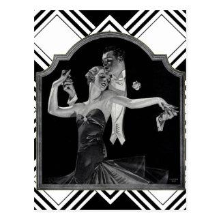 Años 30 que bailan a Deco Tarjetas Postales