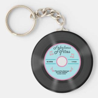 Años 50 fabulosos llavero redondo tipo pin