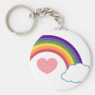 años 80 corazón y arco iris - llavero