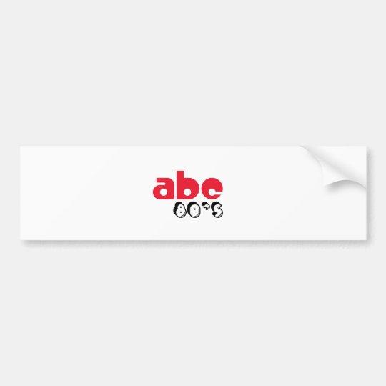 Años 80 de ABC Pegatina Para Auto