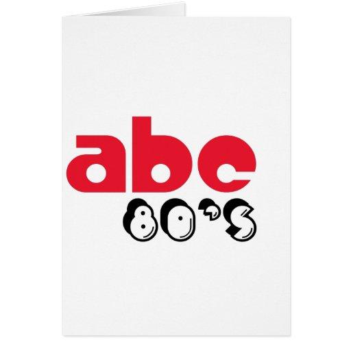Años 80 de ABC Tarjeta De Felicitación
