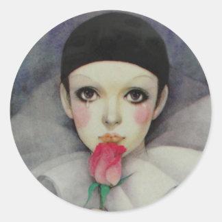 Años 80 de Pierrot Pegatina Redonda