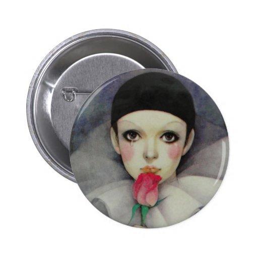 Años 80 de Pierrot Pin Redondo De 2 Pulgadas