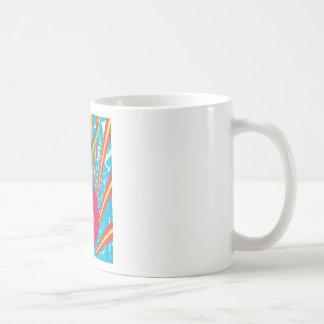 Años 80 enrrollados de la reina 80s del disco del  tazas de café