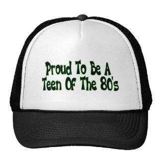 Años 80 orgullosos adolescentes gorras de camionero