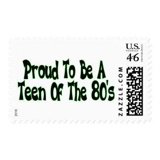 Años 80 orgullosos adolescentes franqueo
