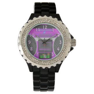 Años 80 púrpuras Boombox de Boomin Relojes De Mano