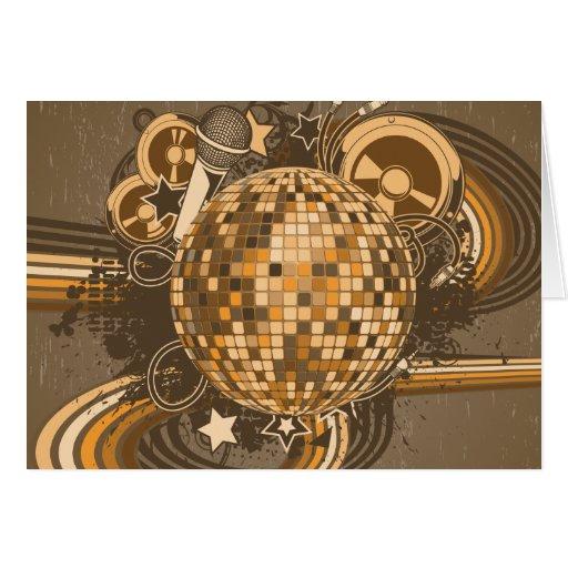 Años 80 retros 80s de la bola de discoteca del ~ tarjeta de felicitación