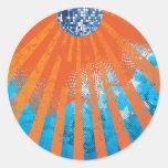 Años 80 retros 80s del ~ del universo de la bola pegatina redonda