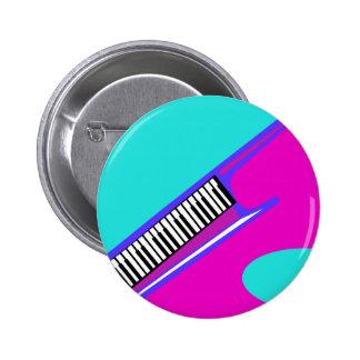 Años 80 totalmente de neón Keytar Pins