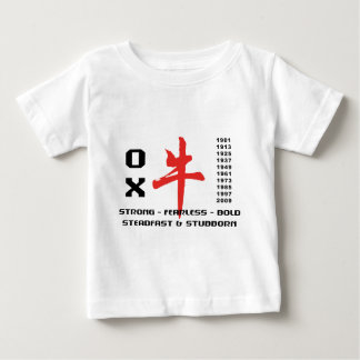 Años de la camiseta del buey playeras