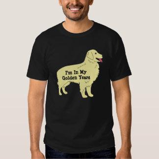 Años de oro de camiseta del perro perdiguero playera