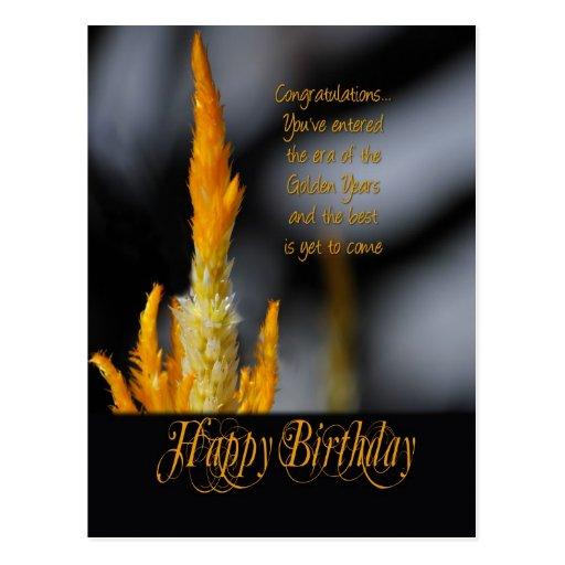 Años de oro de postal del cumpleaños