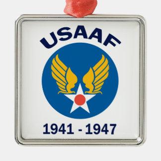 Años de USAAF activos Adorno Navideño Cuadrado De Metal