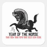 Años del caballo Papercut Colcomanias Cuadradases