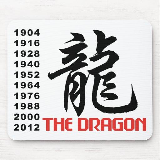 Años del dragón tapete de ratones