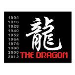 Años del dragón tarjeta postal