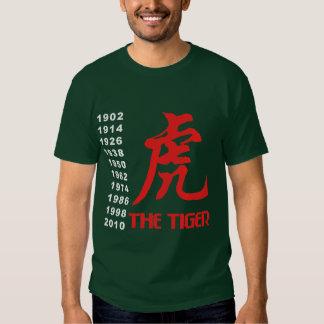 Años del tigre chino del zodiaco polera