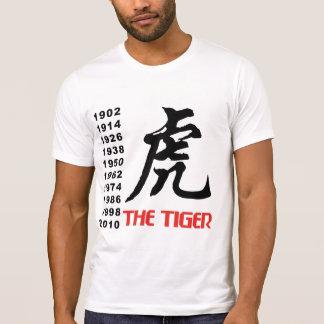 Años del tigre chino del zodiaco poleras