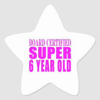 Años estupendos certificados tablero de los pegatina forma de estrella personalizadas