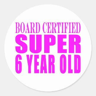 Años estupendos certificados tablero de los pegatinas redondas