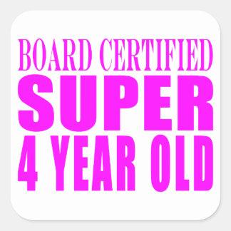 Años estupendos certificados tablero de los calcomanía cuadradas personalizada
