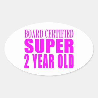 Años estupendos certificados tablero de los colcomanias oval personalizadas