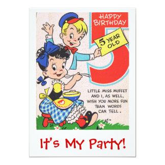 """Años Inite del feliz cumpleaños 5 Invitación 5"""" X 7"""""""