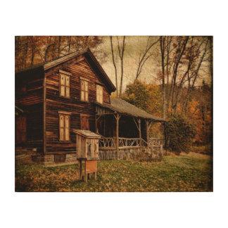 Años Lona-Pasados de madera en la casa de campo de Impresión En Madera