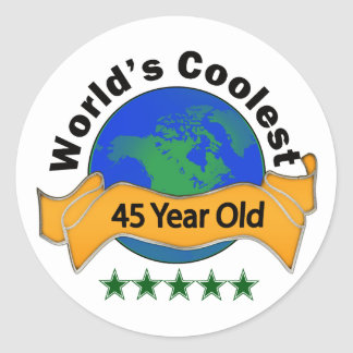 Años más frescos del mundo los 45 pegatina redonda