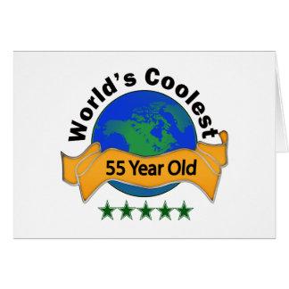 Años más frescos del mundo los 55 tarjeta de felicitación