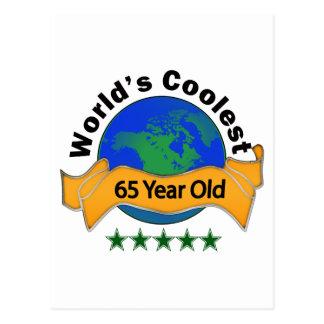 Años más frescos del mundo los 65 postal