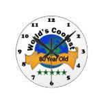 Años más frescos del mundo los 80 relojes de pared