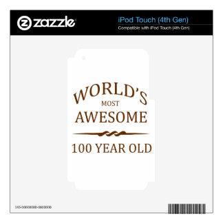 Años más impresionantes del mundo los 100 calcomanías para iPod touch 4G