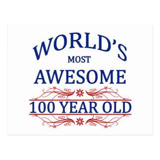 Años más impresionantes del mundo los 100 postal
