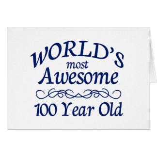 Años más impresionantes del mundo los 100 tarjeta de felicitación