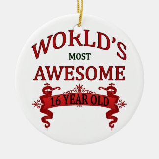 Años más impresionantes del mundo los 16 adorno navideño redondo de cerámica