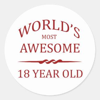 Años más impresionantes del mundo los 18 pegatina redonda