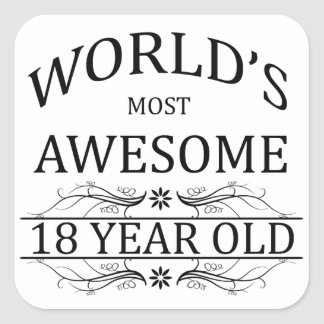Años más impresionantes del mundo los 18 colcomanias cuadradas