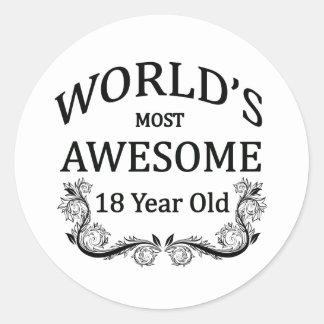 Años más impresionantes del mundo los 18 etiqueta redonda
