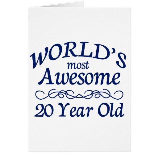 Años más impresionantes del mundo los 20 tarjeta de felicitación