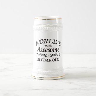 Años más impresionantes del mundo los 21 jarra de cerveza